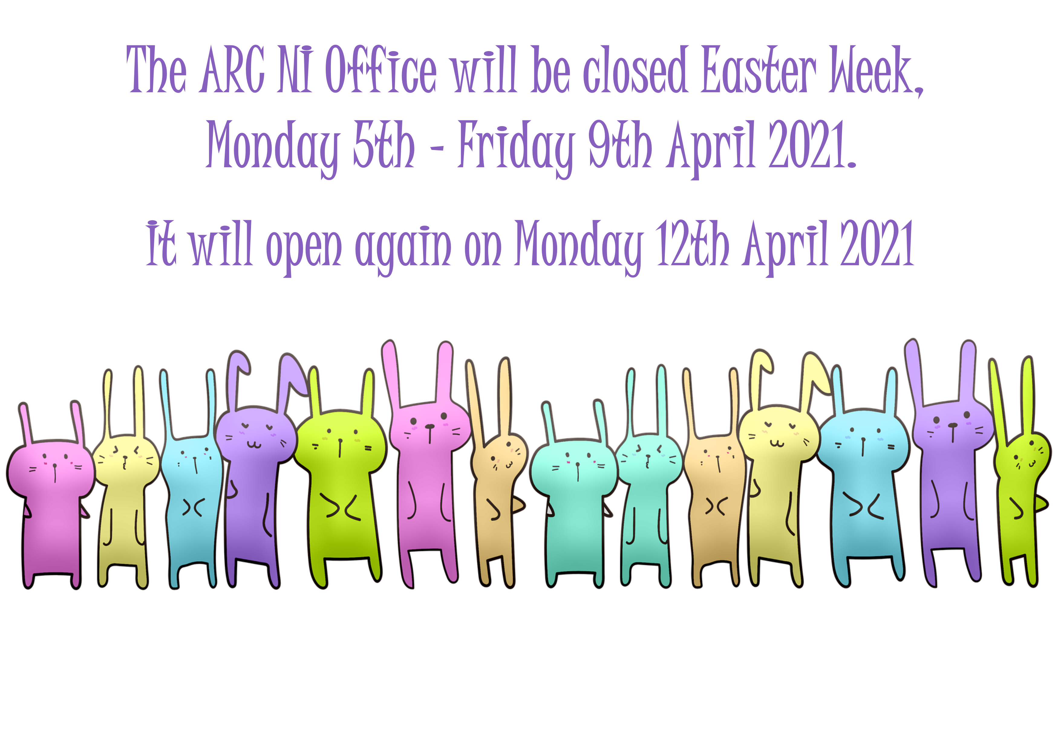 ARCNI Easter Week Office Hours