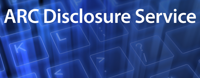 ARC Disclosure Service is now online for DBS applications.