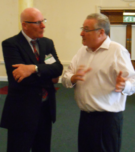 Sandy Toogood and Paul Griffiths share ideas