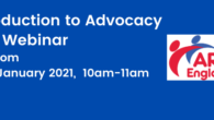 Want to know about Advocacy? Book now on our free webinar taking place 10-11am, 22 January 2021