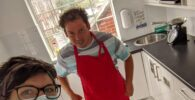 LAS: Person with learning disability and support worker in kitchen
